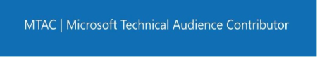 Microsoft Technical Audience Contributor